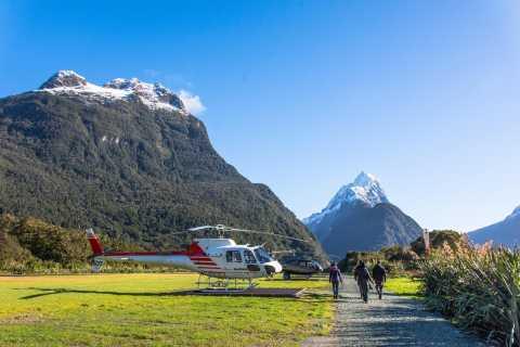 Milford Sound Voo de helicóptero cénico com Glacier Landing