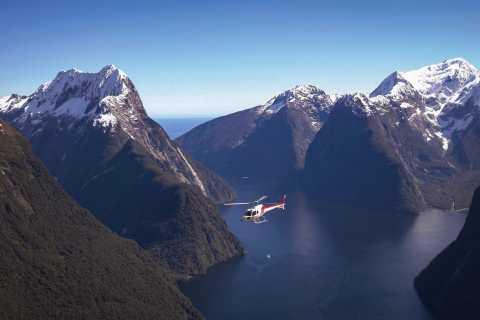 Milford Sound Fiord Rejs & Glacier Lądowanie śmigłowca