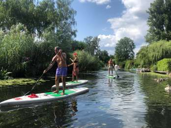 Leipzig: Stand-Up-Paddleboard-Tour