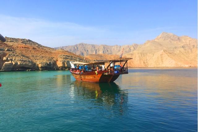 Van Khasab: halfdaagse dhow-boottocht met snorkelen