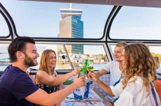 Amsterdam: 90-minütige Bootsfahrt mit Burger und Getränken