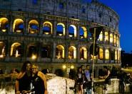 Rom: E-Bike-Nachttour mit Speisen- und Weinverkostung