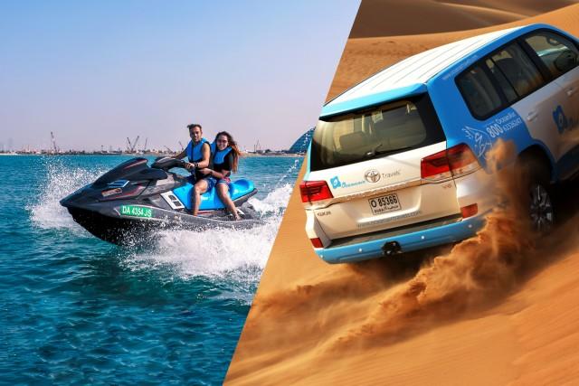Dubai: woestijnsafari met kamelenrit en jetskitour