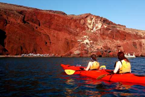 Santorini: Sea Kayaking and Snorkeling with Lunch