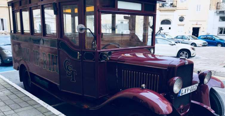 Malta: Scenic Tour by Vintage Bus including Palazzo Parisio