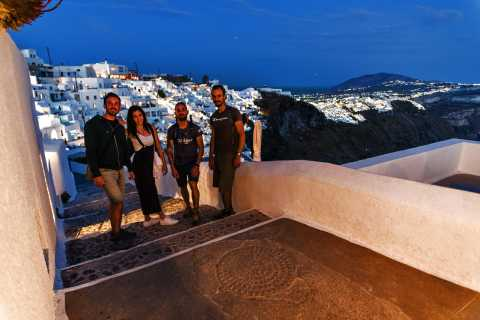 Santorini: Night Hike, Wine Tasting, and Greek Dinner