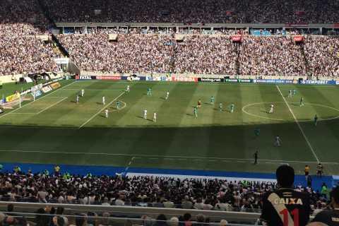 Partido de fútbol en Río