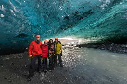 From Jökulsárlón: Crystal Blue Ice Cave Super Jeep Tour