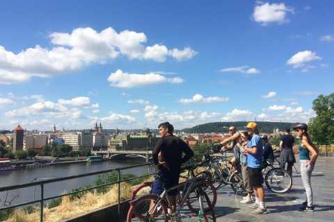 Prag: 2,5-timmars cykeltur med panoramautsikt och Prags slott