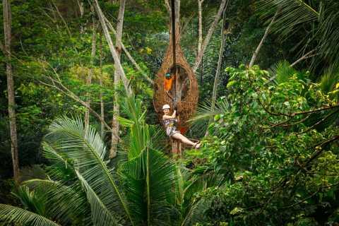 Ubud: Zipline und Schaukel-Abenteuer im Dschungel