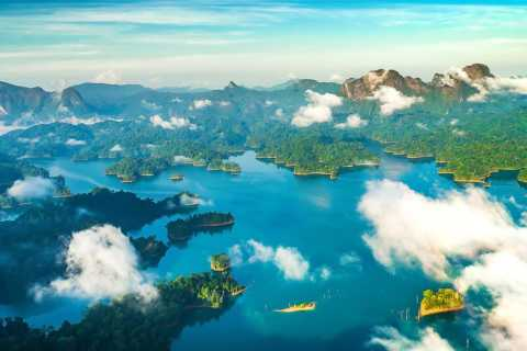 From Krabi: Khao Sok Lake Sightseeing with Kayaking & Lunch
