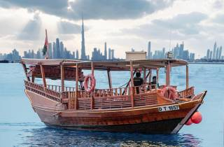 Dubai: Abra-Fahrt bei Sonnenuntergang zum Burj Khalifa