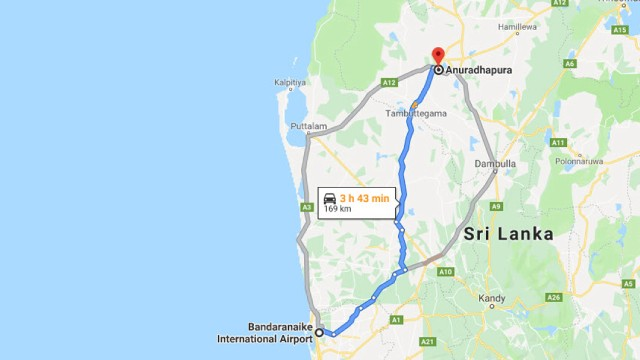 Colombo: CMB Airport naar Anuradhapura City Private Transfer