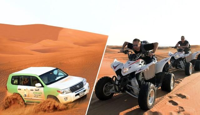 Dubai: Rode duinensafari, quad & kameel rijden & zandboarden