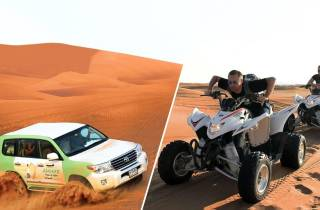 Dubai: Rote Dünen Safari, Quad, Kamelritt und Sandboard