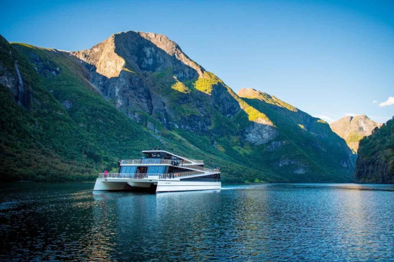 Bergen: Nærøyfjord-Bootsfahrt & Flåmbahn nach Oslo