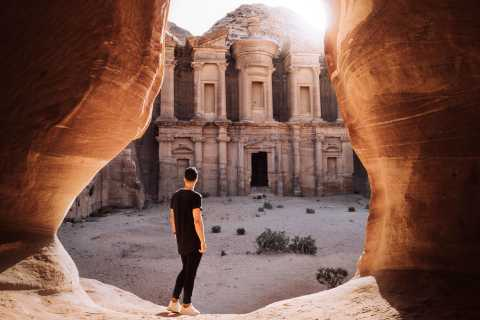 From Amman: Petra, Wadi Rum, Red & Dead Sea 2-Day Trip
