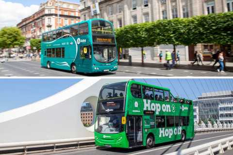 Dublin: Airport Transfer and Hop-On Hop-Off Bus Ticket
