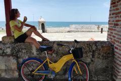 Cartagena: excursão de bicicleta de comida de rua de 3,5 horas