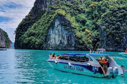 Ab Krabi: Schnellboot-Tour zur Inselgruppe Ko Phi Phi