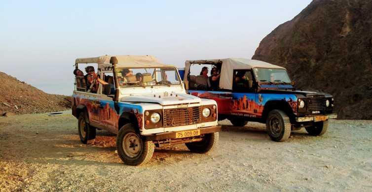 Montagnes d'Eilat: mont Joash en jeep au crépuscule
