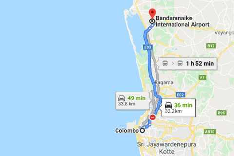 Colombo: Colombo Airport (CMB) and Colombo City Transfer