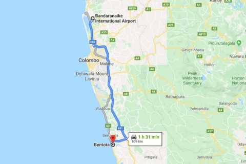 Colombo: CMB Airport to Bentota City Private Transfer