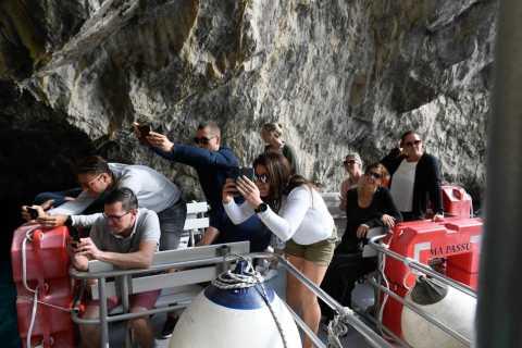 Capri: tour in barca e vista città e mare da Napoli