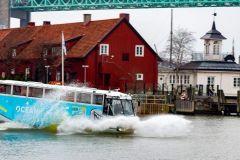 Gotemburgo: excursão turística em ônibus anfíbio terrestre e aquático