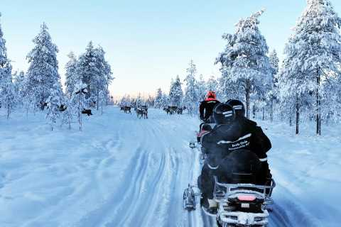 Rovaniemi: Snowmobile Tour with Reindeer Farm Experience