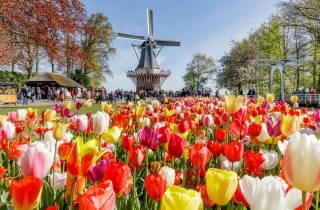 Aus Amsterdam: Keukenhof, Landtour & 1 Attraktion