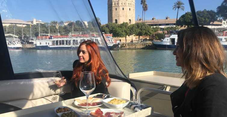 Seville: Exclusive River Boat Tour with Tapas