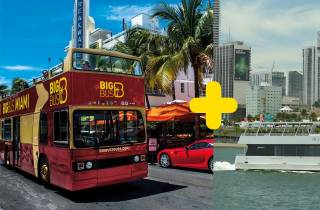 Miami: Halbtägige Open-Top-Bustour und 90-minütige Bootstour