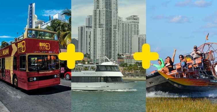 Miami Big Bus: Everglades, tour por la ciudad y en barco