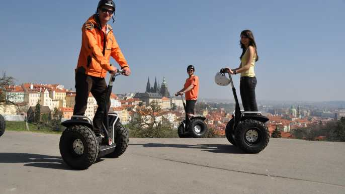 Prague: Small-Group Segway Tour with Included Taxi Transport