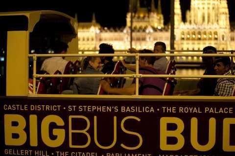 Budapest: recorrido panorámico panorámico en autobús nocturno