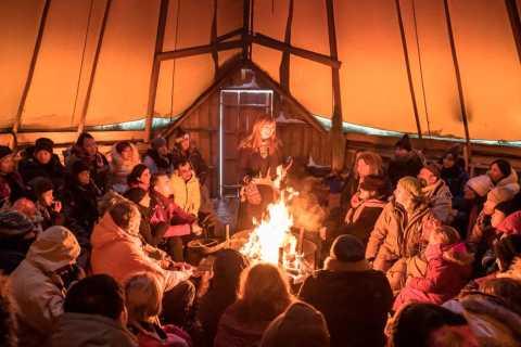 Tromsø: Reindeer Camp Dinner with Chance of Northern Lights