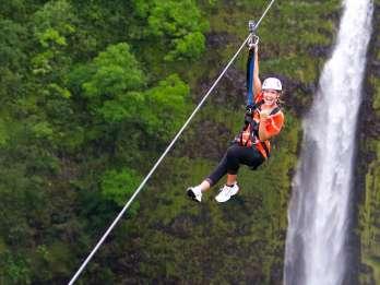 Big Island Hawaii: Zipline Adventure Tour in Akaka Falls