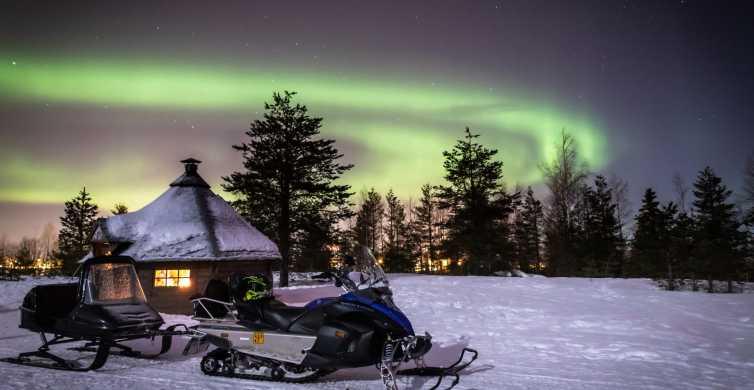 Rovaniemi: Aurora Borealis Safari para snowmobile e churrasqueira na fogueira