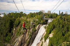Cidade de Quebec: Double Zipline Across by Montmorency Falls