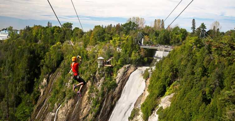 Quebec City: Double Zipline Across Montmorency Falls