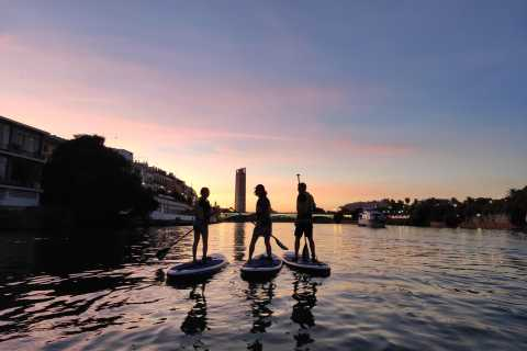 Seville: Sunset and Evening Paddle Boarding Tour