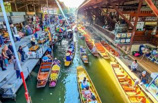Bangkok: Damnoen-Saduak-Tour & Mae-Klong-Zugmarkt (Spanisch)