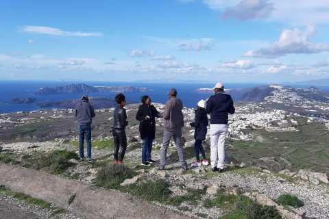 Santorini: Bus Tour, Wine Tasting, and Volcano Cruise