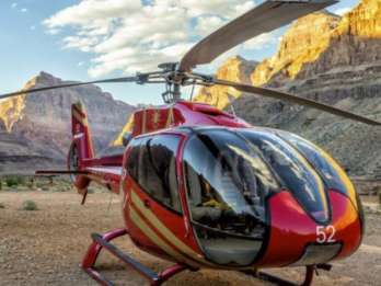 Ab Las Vegas: Grand Canyon West per Bus und Helikopter
