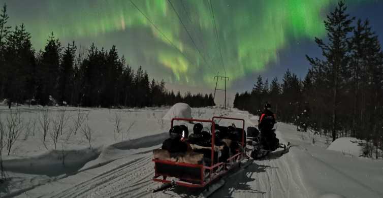 Aurora Boreal: Passeio de Trenó Puxado por Snowmobile