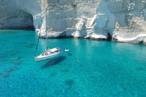 Milos Highlights: Full Day Sailing Cruise in a Small Group
