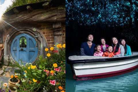 Auckland: Hobbiton Movie Set e Waitomo Small Group Tour