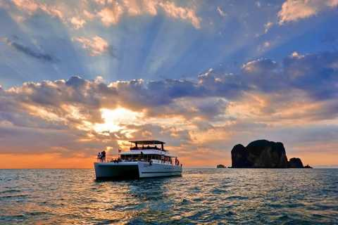From Krabi: 5-Hour Catamaran Cruise at Sunset