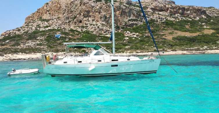 Kissamos: Balos and Gramvousa Private Sailing Trip with Meal
